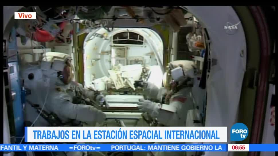 Astronautas, Estación Espacial Internacional, caminata, trabajos