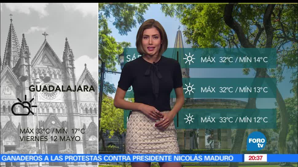 Clima, sábado, Daniela Álvarez, Temperatura, lluvia, temperatura