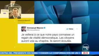 Macron, tuits, Francia, renovación democrática