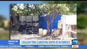Localizan, toma clandestina, domicilio, Mazatlán Sinaloa, ductos de Pemex, Huachicoleros
