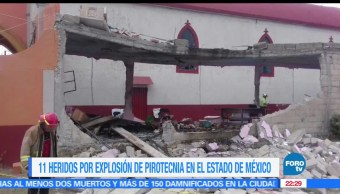 Explosión, pirotecnia, Almoloya de Juárez, Lesionados, Pirotecniia, Explosión en iglesia