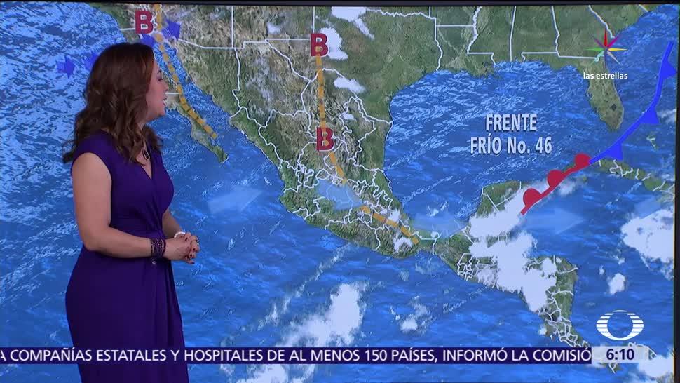 tormentas, regiones, canal de baja presión, Océano Pacífico
