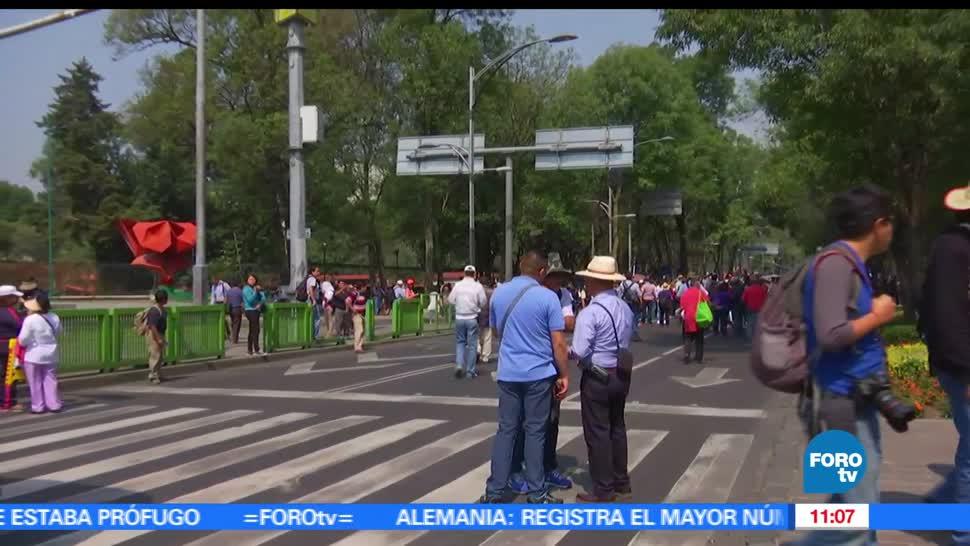 Decenas de manifestantes, avenida Paseo de la Reforma, zona, Ciudad de México