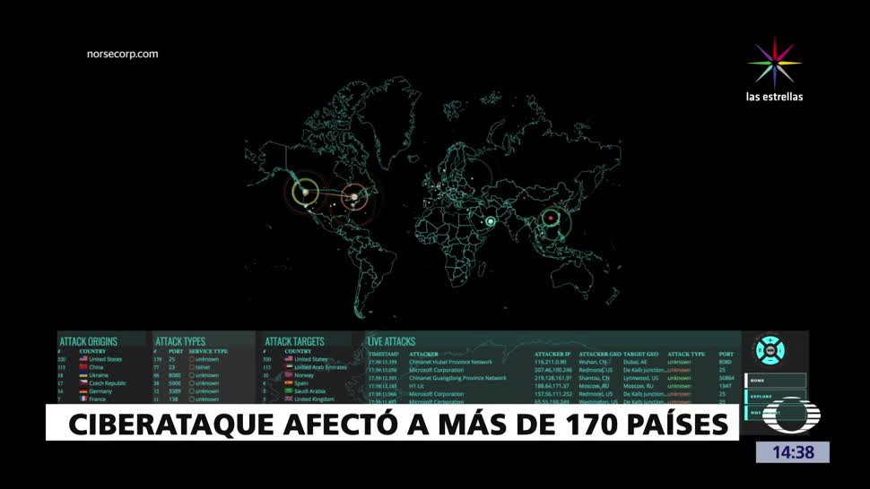 Alerta, mundial, ciberataque, 170 países, Microsoft