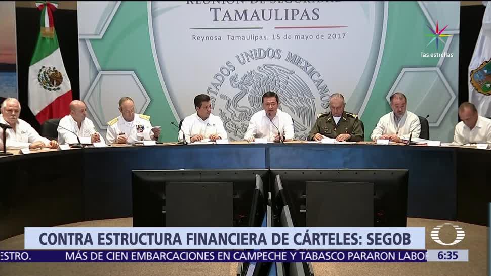 Miguel Ángel Osorio Chong, titular de Segob, cárteles mexicanos, Tamaulipas