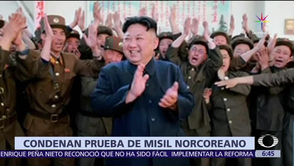 Organización de Naciones Unidas, prueba de un misil balístico, régimen, Norcorea,
