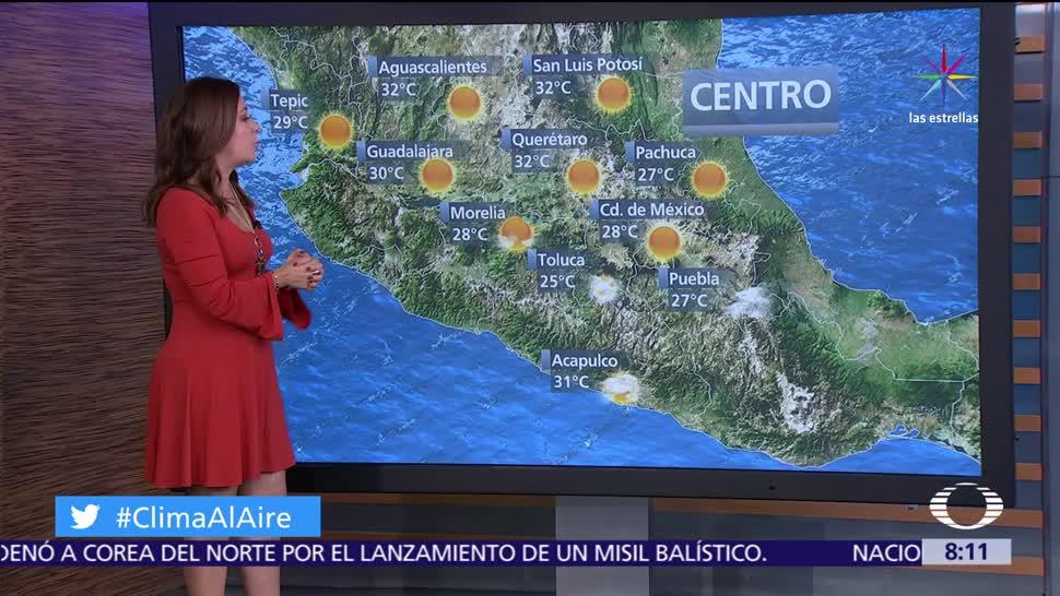 circulación anticiclónica, ambiente estable, disminución de lluvias, República Mexicana