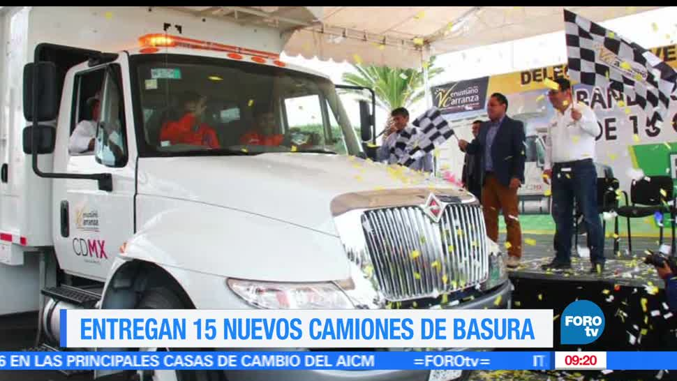 camiones de basura, toneladas, Ciudad de México, entregados