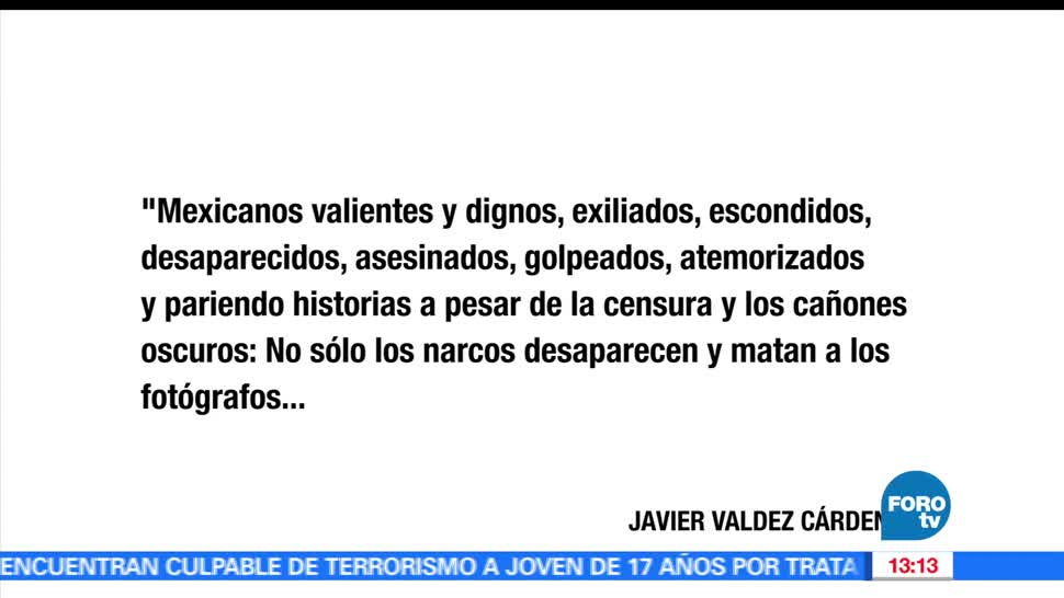 Periodismo, Javier Valdez, reconocido, nivel mundial