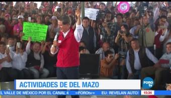 Alfredo Del Mazo, candidato del PRI, corredor industrial, promete