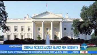 Cierran accesos, la Casa Blanca, por incidente, Servicio Secreto de Estados Unidos