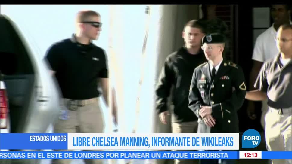exsoldado transgénero, Sale de prisión, Chelsea Manning, informante de Wikileaks