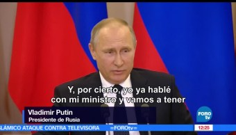 presidente de Rusia, Vladimir Putin, transcripción de la plática, canciller Serguéi Lavrov