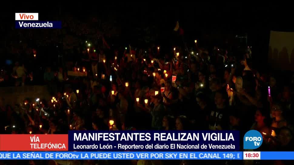 Realizan, vigilia, nocturna, Venezuela, Manifestación, Velas