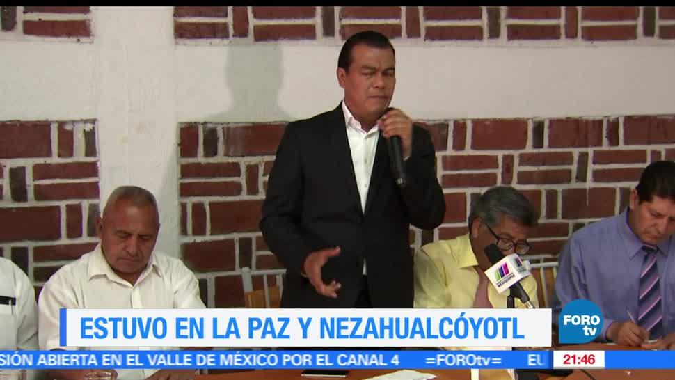 Juan Zepeda, visita, Los Reyes La Paz, Nezahualcóyotl, edomex, gobernador