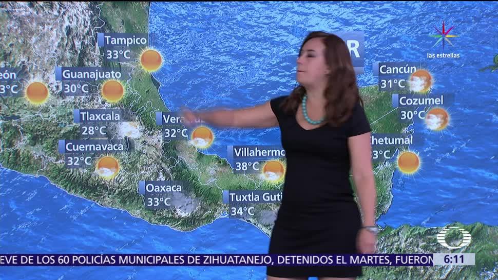 potencial de chubascos, actividad eléctrica, Coahuila, Nuevo León, Tamaulipas