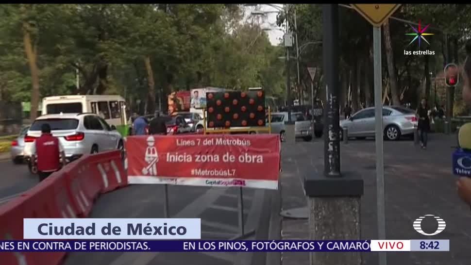 contingencia ambiental, fase I, Ciudad de México, Metrobús en Reforma