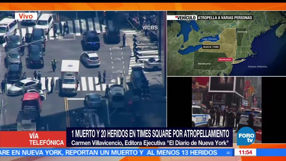 Carmen Villavicencio, Editora ejecutiva, El Diario de Nueva York, Policía, joven