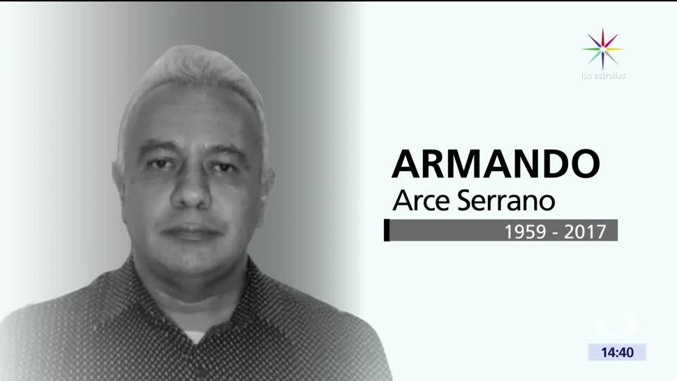 noticias, noticieros televisa, Fallece, camarógrafo, Armando Arce, Televisa