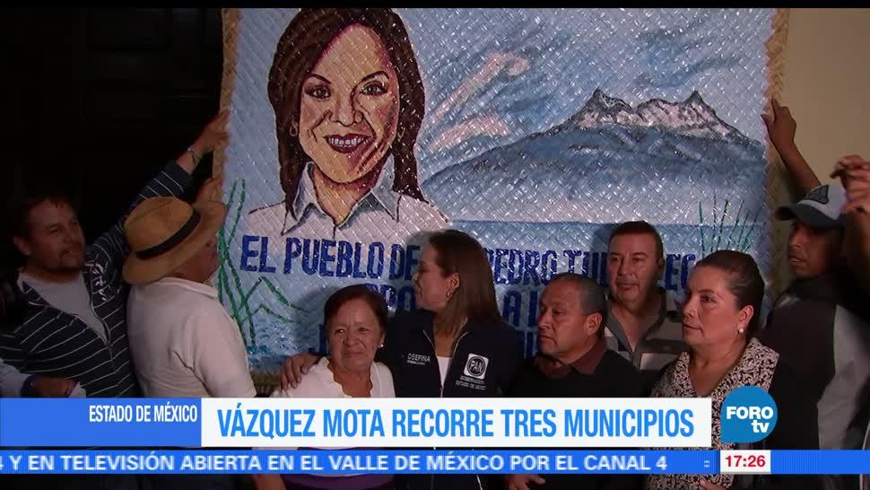 noticias, FOROtv, Vázquez Mota, visita, Tlalnepantla, Metepec y Tenango
