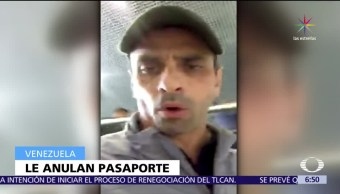 Venezuela, suspenden, pasaporte, Henrique Capriles