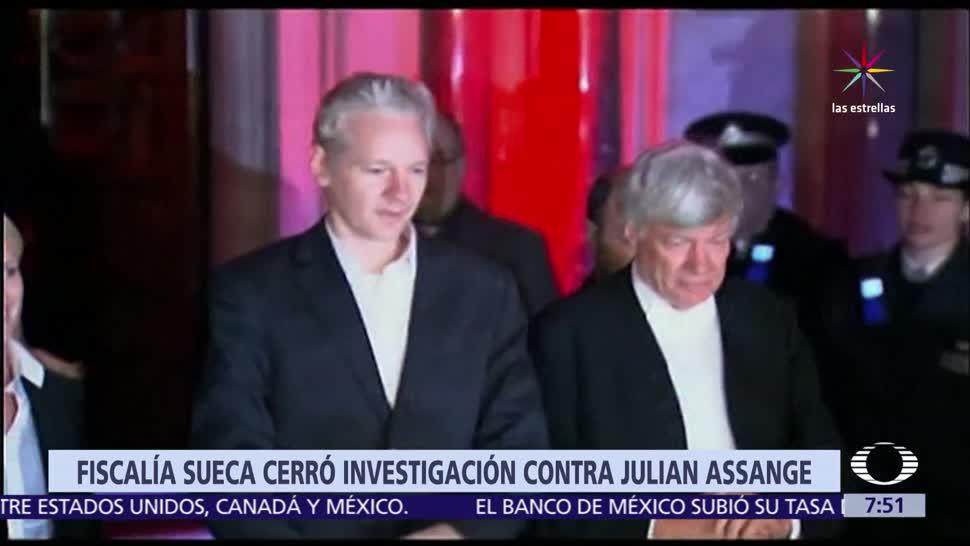 Suecia, investigación, Assange, Fiscalía sueca