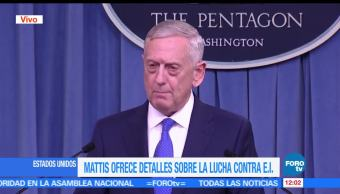 El secretario de Defensa de EU, James Mattis, Estado Islámico, aniquilar