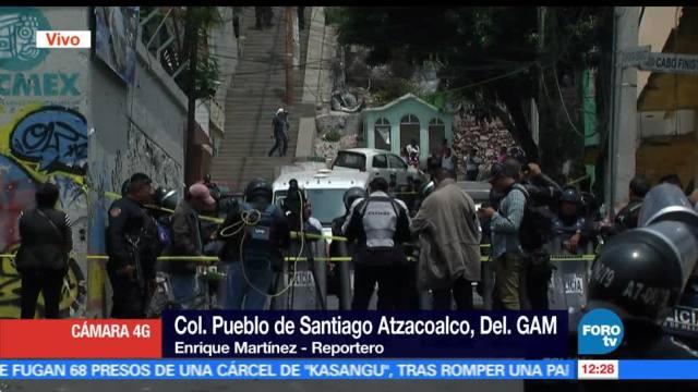 registra, tiroteo, Santiago Atzacoalco, GAM