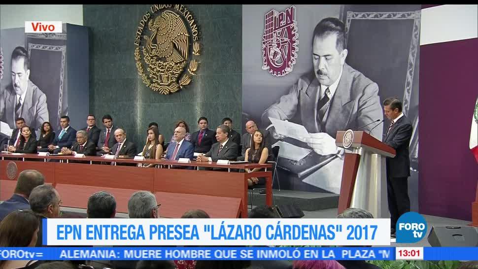 Enrique Peña Nieto, entrega presea, Día del Politécnico, Lázaro Cárdenas