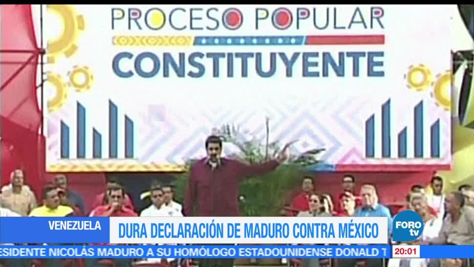 Venezuela, Nicolás Maduro, critica, México, defenderse de Trump