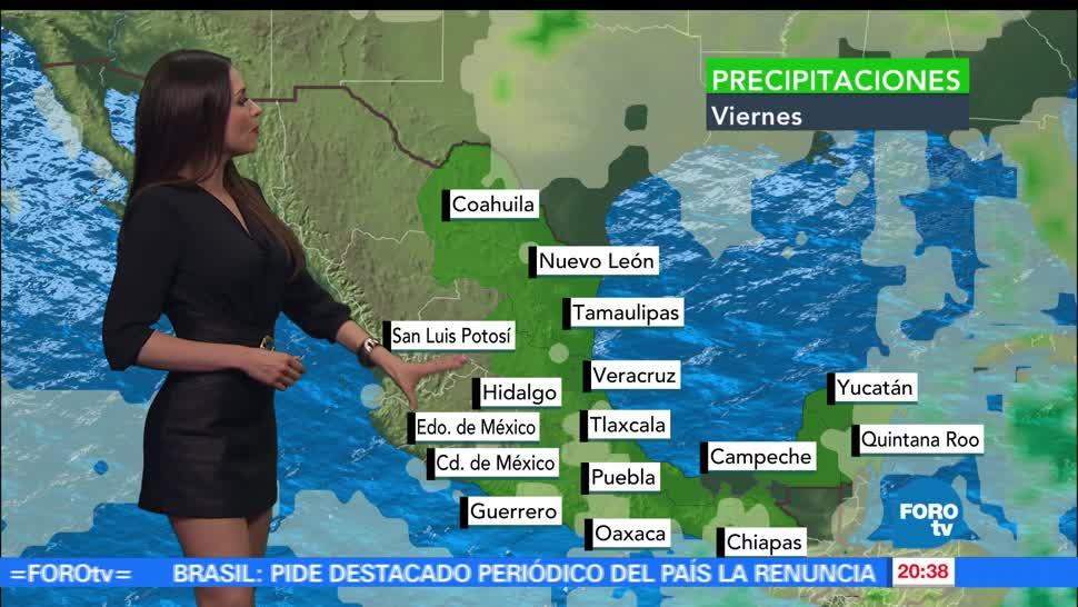 El Clima, condiciones climatológicas, Mayte Carranco, sábado, lluvia, calor