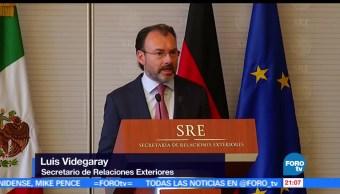 México, no aceptara aranceles, renegociación TLCAN, Luis Videgaray, SRE, estados unidos