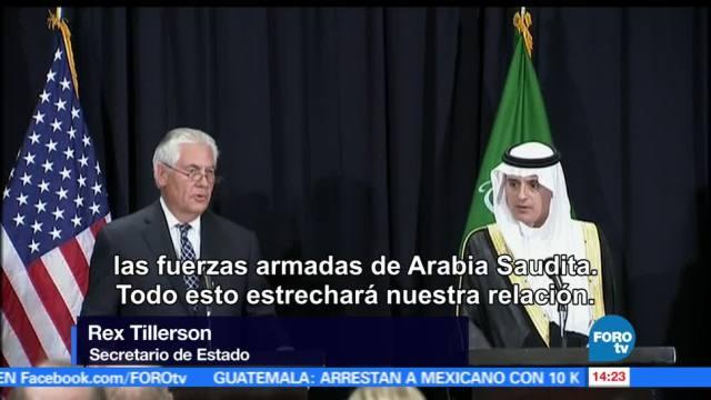 Rex Tillerson, armamento, gobierno saudí, Estados Unidos