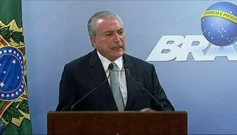 Michel Temer, pedirá, suspender investigación, corrupción, Presidente de Brasil, Tribunal Supremo