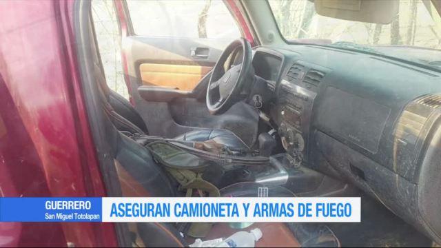 Aseguran, vehículo, armas, Guerrero, seguridad, cartuchos
