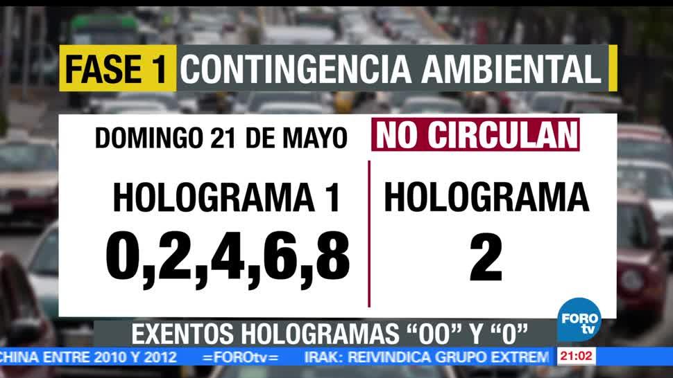 mantiene, Contingencia Ambiental, Valle de México, domingo, hoy no circula