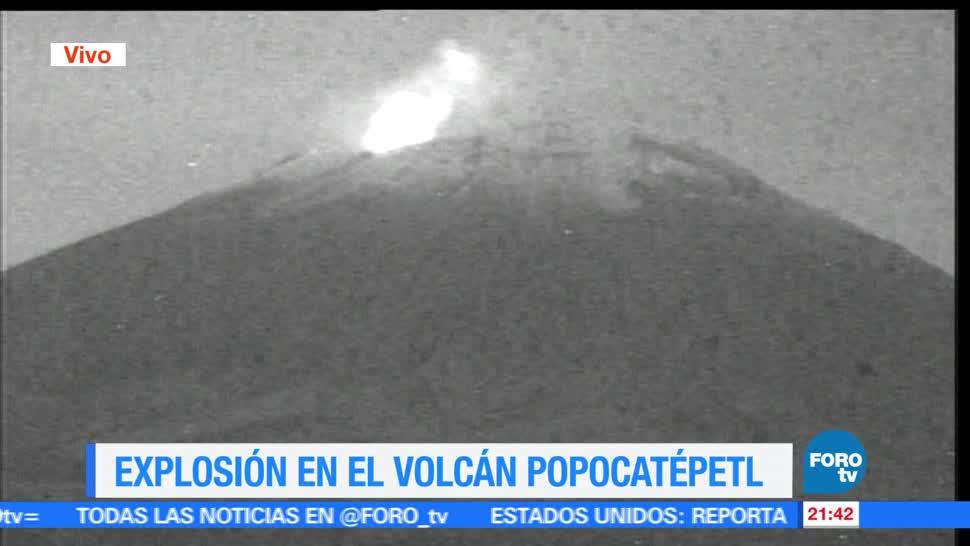 Volcán Popocatépetl, registra, nueva, explosión, Luis Felipe Puente, Proteccion Civil