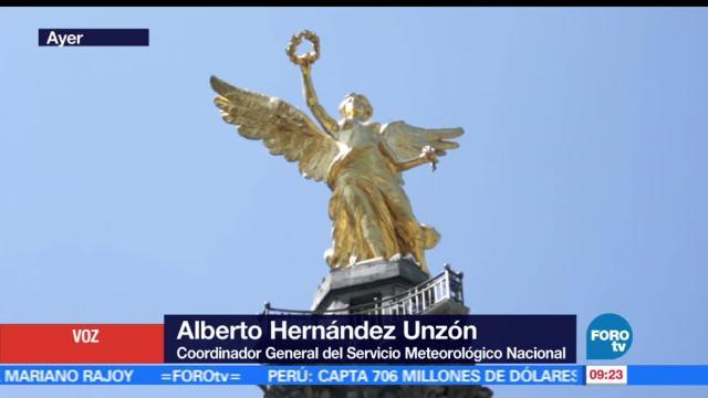 coordinador general, SMN, Alberto Hernández Unzón, onda de calor República Mexicana