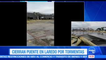 Temporal, daña puente, internacional, Nuevo Laredo