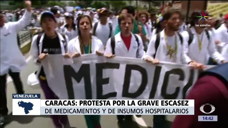 Médicos, marchan, Venezuela, chavistas y opositores