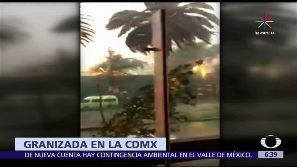 Lluvia fuerte, CDMX, afectaciones, colonias Escandón, Condesa, Lomas de Chapultepec