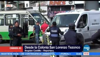individuos armados, transporte público, avenida Tláhuac, muere pasajero