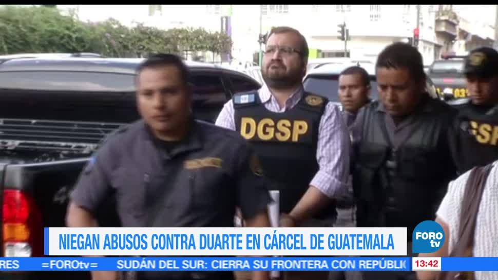 Niegan, abusos, Duarte, cárcel de Guatemala