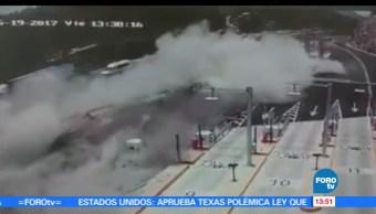 Difunden video, accidente, tráiler, La Marquesa-Toluca