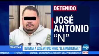 José Antonio Romo, la hamburguesa, Detienen, líder del Cártel del Golfo