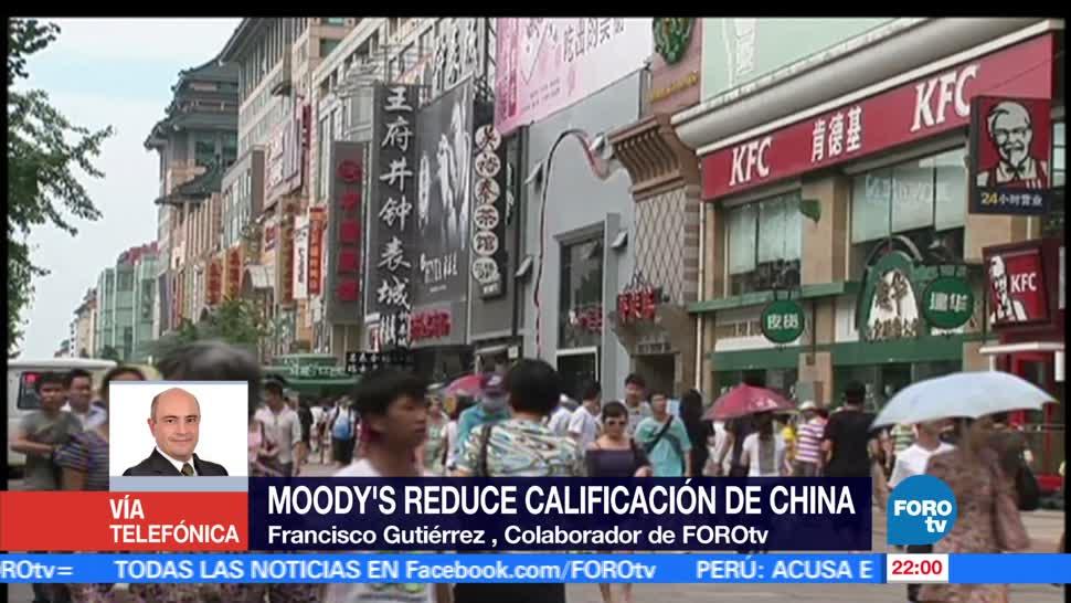 noticias, foroTV, Moody´s, reduce calificación, deuda soberana, China