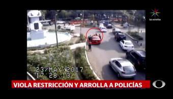 noticias, televisa, Mujer, atropella, policía, Reforma