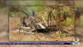 Amacuzac, Morelos, helicóptero se estrella, zonas de cultivo