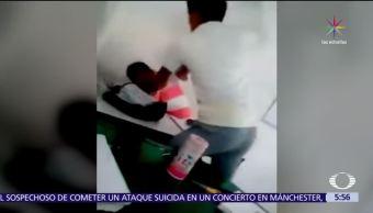 alumno, Colegio de Bachilleres, Tabasco, golpea a maestro