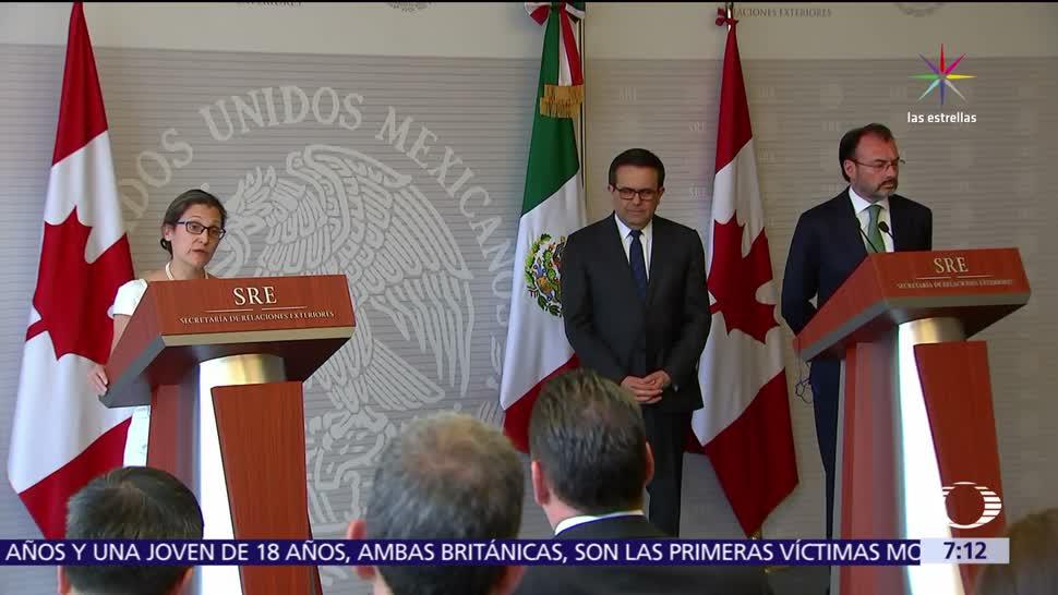 Chrystia Freeland, ministra de Canadá, acuerdo trilateral, TLC